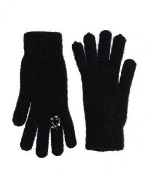 Перчатки PINKO. Цвет: черный