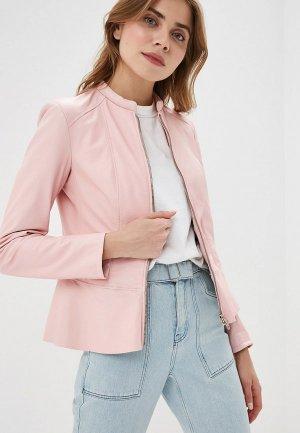 Куртка кожаная Ne.Ra Collezioni. Цвет: розовый