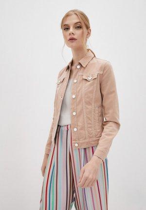 Куртка джинсовая Emporio Armani. Цвет: розовый