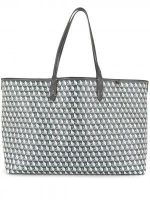 Сумка-тоут I Am A Plastic Bag Anya Hindmarch. Цвет: зеленый