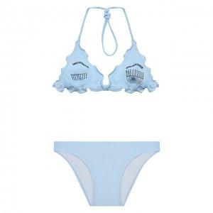 Раздельный купальник Chiara Ferragni. Цвет: синий