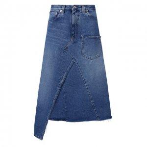 Джинсовая юбка Loewe. Цвет: синий