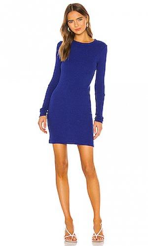 Мини платье Enza Costa. Цвет: синий