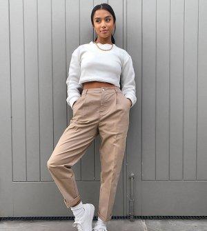 Светло-бежевые брюки чиносы ASOS DESIGN Petite-Светло-бежевый Petite