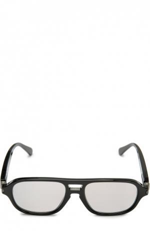 Солнцезащитные очки Brioni. Цвет: чёрный