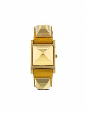 Наручные часы Médor pre-owned 23 мм 1990-х годов Hermès. Цвет: золотистый