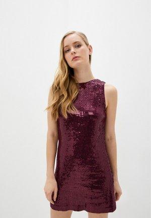 Платье Alice + Olivia. Цвет: бордовый