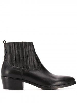 Ботинки с заостренным носком и эластичной вставкой Albano. Цвет: черный