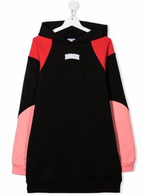 TEEN panelled hoodie dress MSGM Kids. Цвет: черный