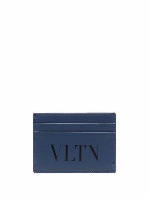Картхолдер с логотипом VLTN Valentino Garavani. Цвет: синий