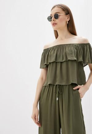 Блуза Alcott. Цвет: хаки