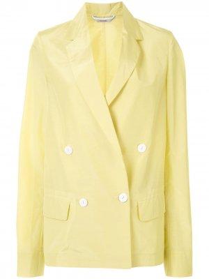 Двубортный блейзер с карманами Colombo. Цвет: желтый