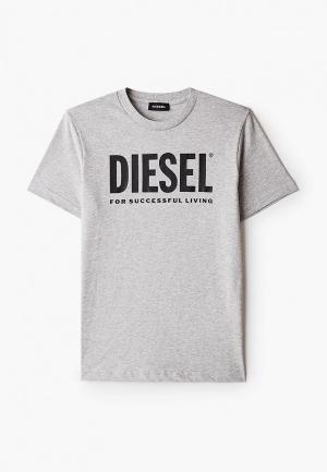 Футболка Diesel. Цвет: серый
