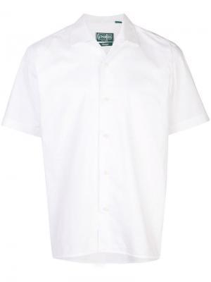 Классическая рубашка-поло Gitman Vintage. Цвет: белый