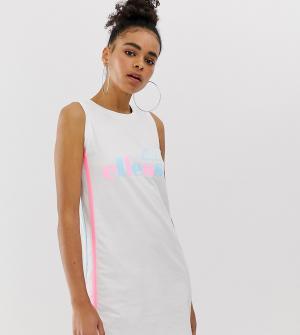 Свободное платье-майка с логотипом и вставками колор блок Ellesse-Белый ellesse
