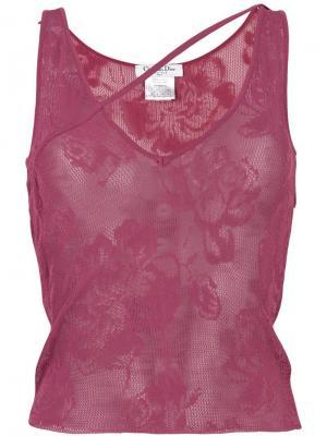 Асимметричный топ Christian Dior Pre-Owned. Цвет: розовый