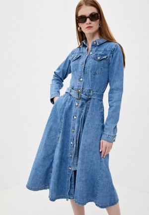 Платье джинсовое Tantra. Цвет: голубой