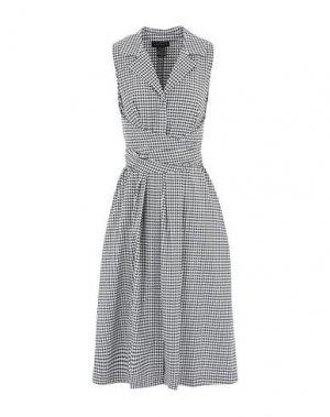 Платье длиной 3/4 DONNA KARAN. Цвет: черный