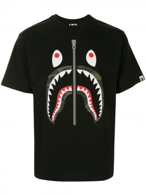 Футболка Camo Shark с короткими рукавами A BATHING APE®. Цвет: черный