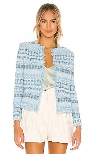 Дамский пиджак louisa IRO. Цвет: нежно-голубой