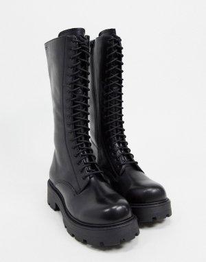Черные массивные ботинки на шнуровке Cosmo-Черный Vagabond