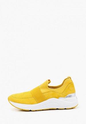 Кроссовки Caprice Увеличенная полнота, Comfort. Цвет: желтый