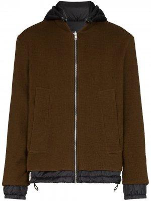 Двусторонняя куртка с капюшоном Loreak Mendian. Цвет: коричневый