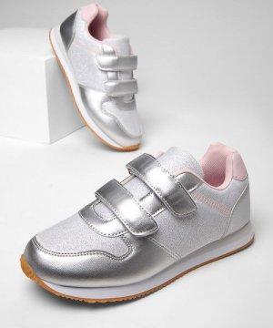 Кроссовки для девочек O`Stin. Цвет: серебряно-розовый