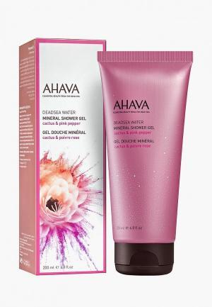 Гель для душа Ahava Deadsea Water Минеральный кактус и розовый перец, 200 мл. Цвет: прозрачный