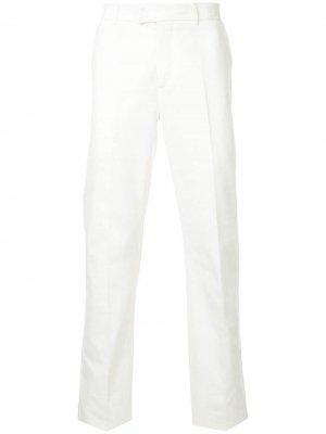 Классические приталенные брюки Gieves & Hawkes. Цвет: белый