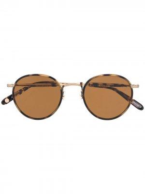 Солнцезащитные очки Wilson Bourbon Garrett Leight. Цвет: коричневый