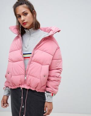 Дутая куртка с молнией Pull&Bear