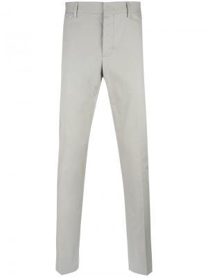 Классические брюки кроя слим Lanvin. Цвет: серый