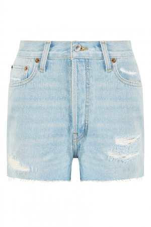 Джинсовые шорты мини Re/done. Цвет: голубой