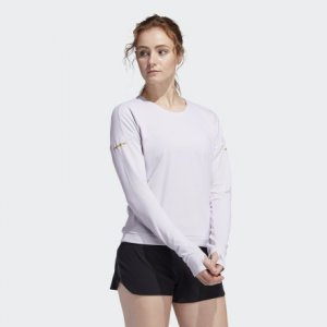 Джемпер для бега Supernova Cru Performance adidas. Цвет: белый