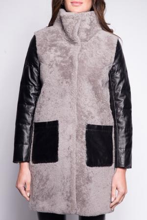 Пальто John & Yoko. Цвет: grey and black