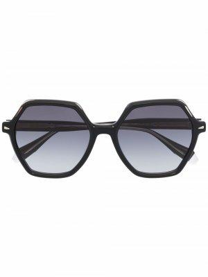 Солнцезащитные очки с эффектом градиента GIGI STUDIOS. Цвет: черный