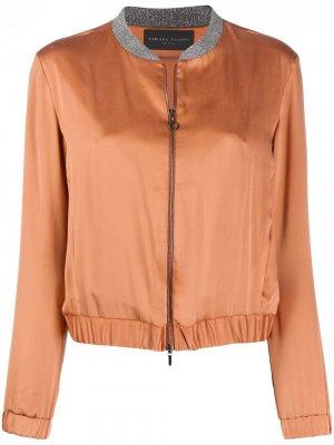 Куртка-бомбер Fabiana Filippi. Цвет: оранжевый