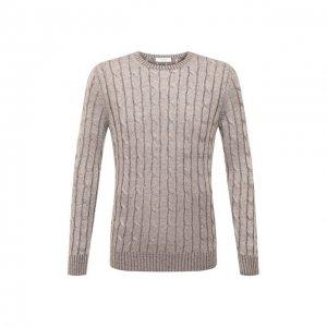 Льняной свитер Gran Sasso. Цвет: бежевый