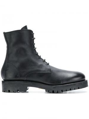Высокие ботинки в стиле милитари Guidi