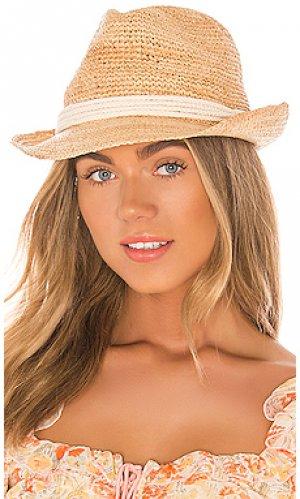 Шляпа федора marin ale by alessandra. Цвет: цвет загара