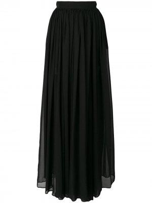 Плиссированная длинная юбка Elie Saab. Цвет: черный