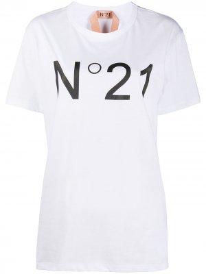Logo-print T-shirt Nº21. Цвет: белый