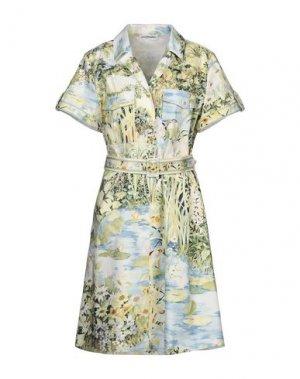 Платье до колена LEONARD Paris. Цвет: светло-зеленый