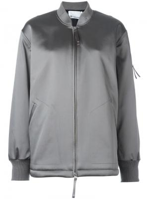 Объемная куртка бомбер T By Alexander Wang. Цвет: зеленый