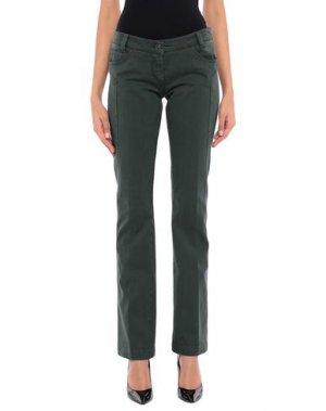 Повседневные брюки HEAVEN TWO. Цвет: темно-зеленый