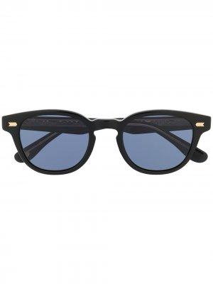 Солнцезащитные очки в круглой оправе Eyevan7285. Цвет: черный
