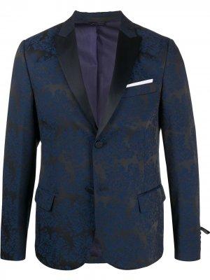 Однобортный пиджак узкого кроя Daniele Alessandrini. Цвет: синий