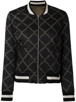 Мягкая куртка бомбер Isabel Marant Étoile. Цвет: чёрный