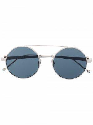Солнцезащитные очки Pasha в круглой оправе Cartier Eyewear. Цвет: серебристый